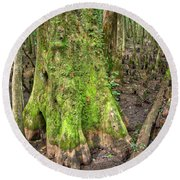 Mossy Cypress Round Beach Towel