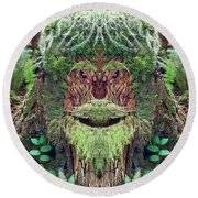 Mossman Tree Stump Round Beach Towel