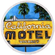 Motel California Round Beach Towel