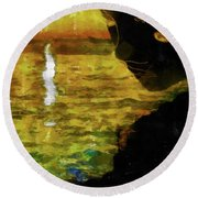 Round Beach Towel featuring the photograph Mother Earth Watching by Joseph Hollingsworth