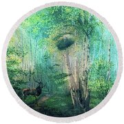 Mother Nature 0022 Round Beach Towel