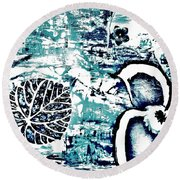 Mother Nature Fantasy Round Beach Towel