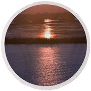 Round Beach Towel featuring the photograph Mother Natures Mood Swings by John Glass