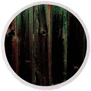 Mother Of Pearl Fence Round Beach Towel
