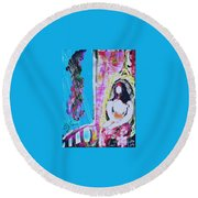 Motherhood Round Beach Towel