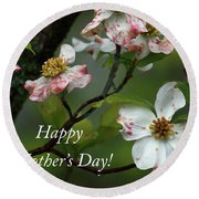 Round Beach Towel featuring the photograph Mother's Day Dogwood by Douglas Stucky