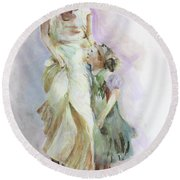 Mothers Love Round Beach Towel