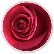 Mother's Rose Round Beach Towel