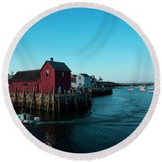 Motif Number 1 Closeup Round Beach Towel