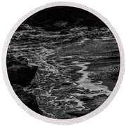 Round Beach Towel featuring the photograph Motion In Black And White by Nicole Lloyd