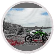 Motocross Round Beach Towel by Wahyu Nugroho