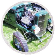 Motor Wheel Round Beach Towel