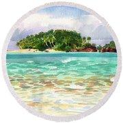 Motu Rakau, Aitutaki Round Beach Towel
