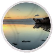 Motueka Sunrise 3 Round Beach Towel