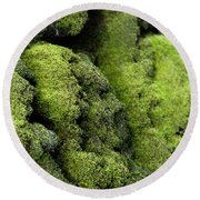 Mounds Of Moss Round Beach Towel