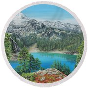 Mount Baker Wilderness Round Beach Towel