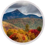Mount Chocorua-one Round Beach Towel