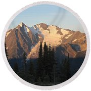 Mount Cooper Morning Round Beach Towel by Cathie Douglas