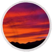 Mount Franklin Purple Sunset Round Beach Towel
