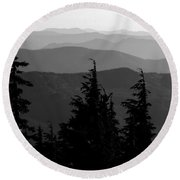 Mount Hood National Forest Round Beach Towel