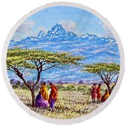 Mount Kenya 2 Round Beach Towel