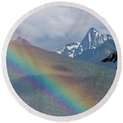 Mount Loki Rainbow Round Beach Towel