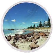 Mount Maunganui Beach 2 - Tauranga New Zealand Round Beach Towel by Selena Boron