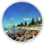 Mount Maunganui Beach 6 - Tauranga New Zealand Round Beach Towel