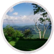 Mount Pisgah Vista Round Beach Towel