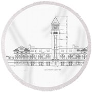 Mount Royal Station Round Beach Towel