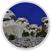 Round Beach Towel featuring the photograph Mount Rushmore 007 by George Bostian