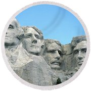 Mount Rushmore Round Beach Towel by American School