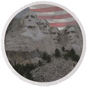 Mount Rushmore Round Beach Towel by Juli Scalzi