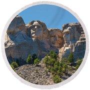 Mount Rushmore South Dakota Round Beach Towel