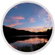 Mount Saint Francis Sunset - D010121 Round Beach Towel