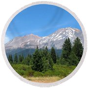 Round Beach Towel featuring the photograph Mount Shasta Ca 07 15 07 by Joyce Dickens