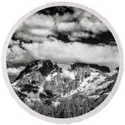 Round Beach Towel featuring the photograph Mount Shuksan Under Clouds by Jon Glaser
