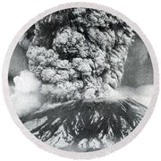 Mount St. Helens Eruption, 1980 Round Beach Towel