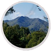 Mount Tamalpais Round Beach Towel
