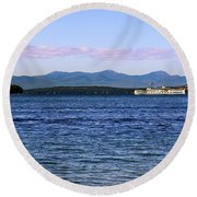 Mount Washington Round Beach Towel by Mim White