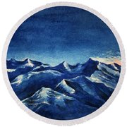 Mountain-4 Round Beach Towel