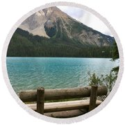 Mountain Calm Round Beach Towel