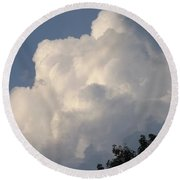 Round Beach Towel featuring the photograph Mountain Clouds 6 by Don Koester