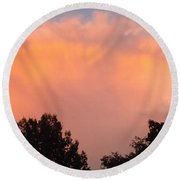 Round Beach Towel featuring the photograph Mountain Clouds 7 by Don Koester