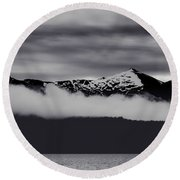 Mountain Contrast Round Beach Towel