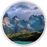 Mountain Dream Round Beach Towel by Andrew Matwijec