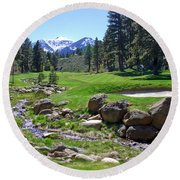Mountain Golf Course Round Beach Towel
