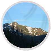 Mountain In Rocky Mountian Np Co Round Beach Towel
