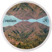 Mountain Kiss  Round Beach Towel
