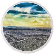 Mountain Landscape 7 Round Beach Towel
